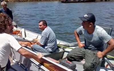 Pontapé inicial no Canal de Bertioga